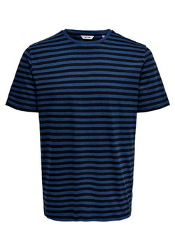 Only & Sons - ONSJAMIE LIFE SS STRIPE REG TEE NOO - Print T-shirt - estate blue