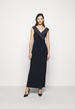 Lauren Ralph Lauren - MID WEIGHT LONG GOWN COMBO - Vestido de fiesta - lighthouse navy