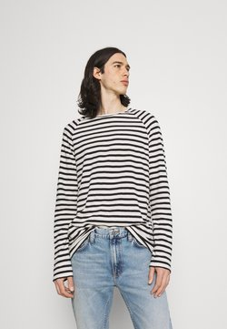 Nudie Jeans - Langarmshirt - eggwhite/black