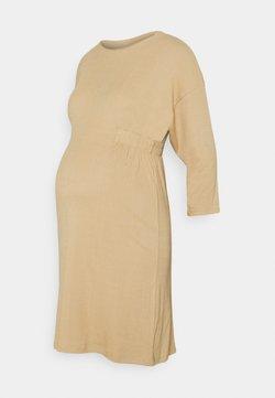 MAMALICIOUS - MLASTRID DRESS - Sukienka dzianinowa - beige