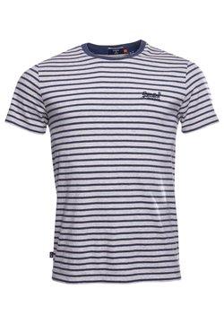Superdry - T-Shirt print - navy stripe