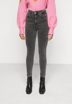 Pieces Petite - PCZAYA ANK  - Jeans Skinny Fit - dark grey denim