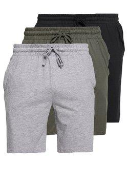 Pier One - 3 PACK - Bas de pyjama - black/mottled grey