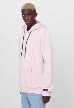 Bershka - Bluza z kapturem - pink