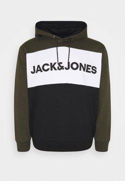 Jack & Jones - JJELOGO BLOCKING HOOD - Sweat à capuche - forest night
