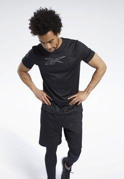 Reebok - SMARTVENT GRAPHIC T-SHIRT - T-Shirt print - black
