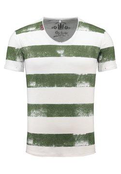 Key Largo - MT AIRFLIGHT - T-Shirt print - offwhite-khaki