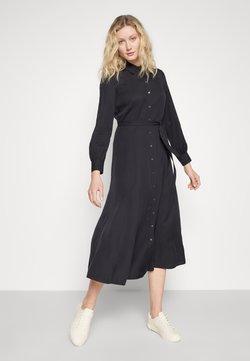 Marc O'Polo - DRESS, FEMININE FLARED, SHIRT DETAILS - Maxikleid - dark blue