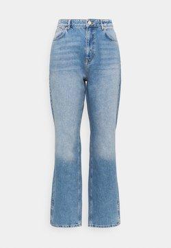 Simply Be - SPLIT HEM  - Jean droit - stone blue denim
