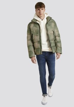 TOM TAILOR DENIM - HEAVY PUFFER JACKET - Winterjacke - green blurry print