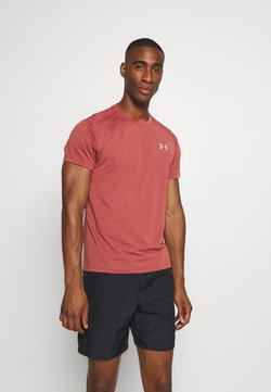 Under Armour - STREAKER SHORTSLEEVE - Camiseta estampada - cinna red