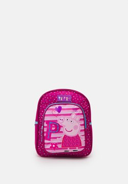 Kidzroom - BACKPACK PEPPA PIG BE HAPPY - Ryggsäck - fuchsia