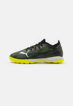 Puma - ULTRA 1.2 PRO CAGE - Astro turf trainers - black/white/yellow alert