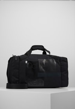 Calvin Klein - LAYERED GYM BAG - Sporttasche - black