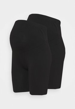 Anna Field MAMA - 2 PACK  - Shorts - black/black