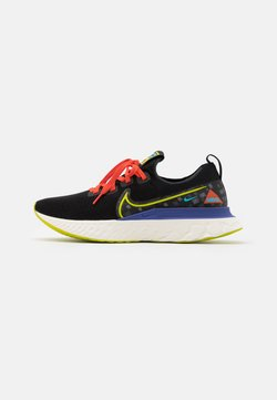 Nike Performance - REACT INFINITY RUN UNISEX - Zapatillas de running neutras - black/bright cactus/sail/rush violet/baltic blue/team orange
