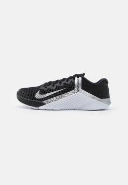 Nike Performance - METCON 6 - Sports shoes - black/metallic silver
