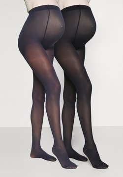 MAMALICIOUS - MLSABINE COLOR 2 PACK - Tights - navy blazer/black