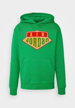 Jordan - HOODIE - Bluza - lucky green/track red