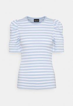 Pieces - PCANNA - T-Shirt print - bright white/kenntucky blue