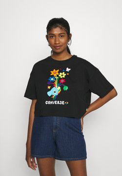 Converse - ROAD TO PRIDE CROPPED GRAPHIC TEE - T-Shirt print - black