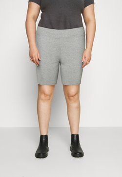 Nike Sportswear - BIKER  - Shorts - grey heather/white