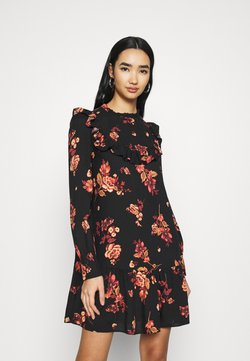 New Look - BAILEY FLORAL MINI - Freizeitkleid - black