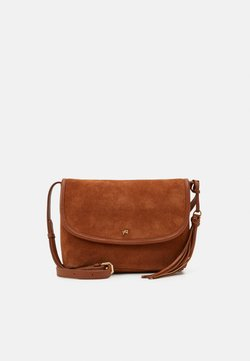 Anna Field - LEATHER - Umhängetasche - cognac