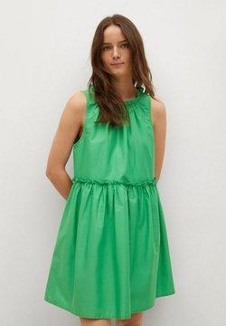 Mango - MET GEPLOOID DETAIL - Sukienka letnia - groen