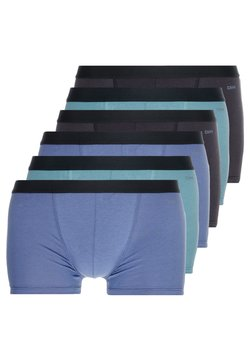 DIM - ECODIM COLORS BOXER 6 PACK - Shorty - black/blue/green
