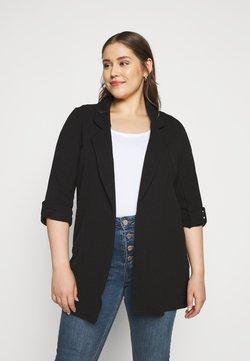 New Look Curves - RIVERPOOL TAB SLEEVE - Abrigo corto - black