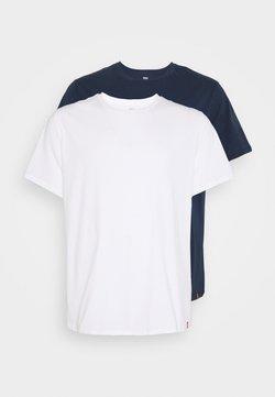 Levi's® Plus - BIG TEE 2 PACK  - T-Shirt basic - white/dress blues
