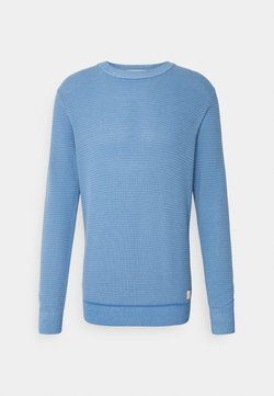 Scotch & Soda - CLASSIC  - Strickpullover - seaside blue melange