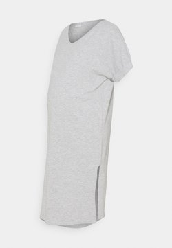 Pieces Maternity - PCMNEORA FOLD UP DRESS - Vestido ligero - light grey melange