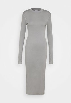 Weekday - ELLA DRESS - Vestido de punto - grey medium dusty