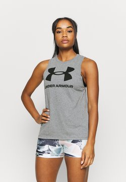 Under Armour - SPORTSTYLE GRAPHIC TANK - Tekninen urheilupaita - pitch gray light heather