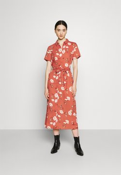 Vero Moda - VMMELLIE LONG SHIRT DRESS - Blousejurk - marsala/mellie
