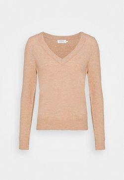 ONLY - ONLCORINNE V-NECK  - Pullover - misty rose/white melange