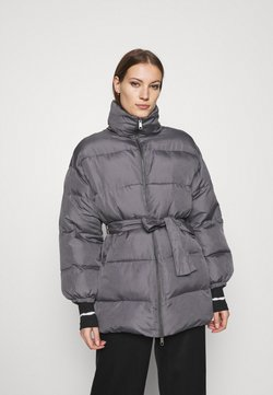 Who What Wear - ZIP FRONT PUFFER JACKET - Winterjacke - slate