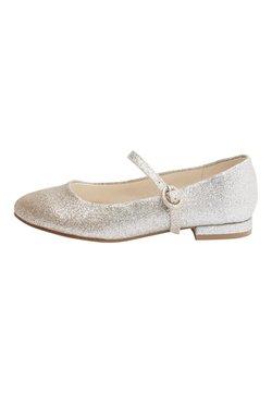 Next - SILVER/GOLD GLITTER HEELED MARY JANE SHOES (OLDER) - Ballerinat nilkkaremmillä - gold