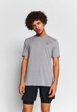 Salomon - AGILE TRAINING TEE - T-Shirt basic - alloy/heather