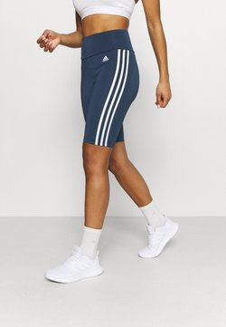adidas Performance - DESIGNED TO MOVE HIGH-RISE SHORT SPORT TIGHTS - Tights - navy/white