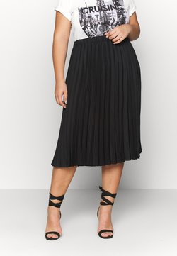 CAPSULE by Simply Be - PLEATED SKIRT - A-Linien-Rock - black