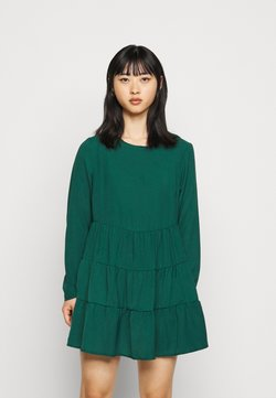 Missguided Petite - TIERED SMOCK DRESS  - Sukienka letnia - dark green