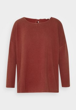 TOM TAILOR DENIM - STRUCTURED TEE - Camiseta de manga larga - rust orange