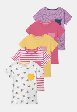 Friboo - 5 PACK - T-shirt print - pink/yellow/white