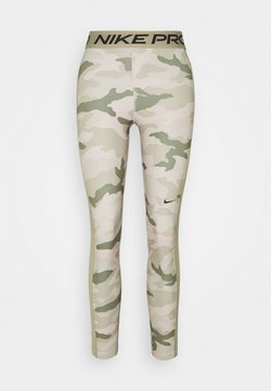 Nike Performance - TIGHT 7/8 CAMO - Tights - stone/mystic stone