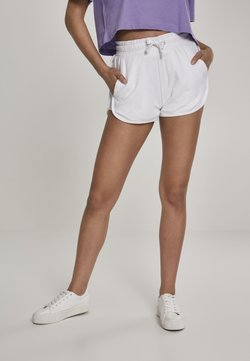 Urban Classics - LADIES TOWEL HOT PANTS - Jogginghose - white