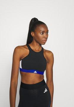 adidas Performance - VARSITY BRA - Medium support sports bra - black
