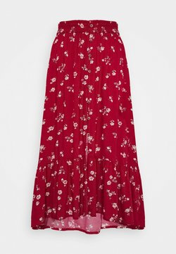 Hollister Co. - TRIFECTA MIDI - A-Linien-Rock - red floral